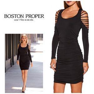 Boston Proper ruched dress. NWOT